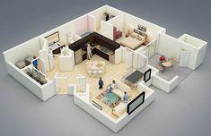 แบบแปลนภายในบ้าน 1 ห้องนอน « บ้านไอเดีย เว็บไซต์เพื่อบ้านคุณ