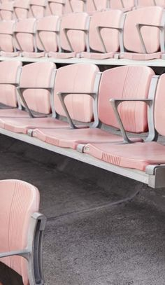 Stadium seating in pink