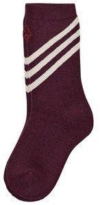 The Animals Observatory Maroon Skunk Kids Socks