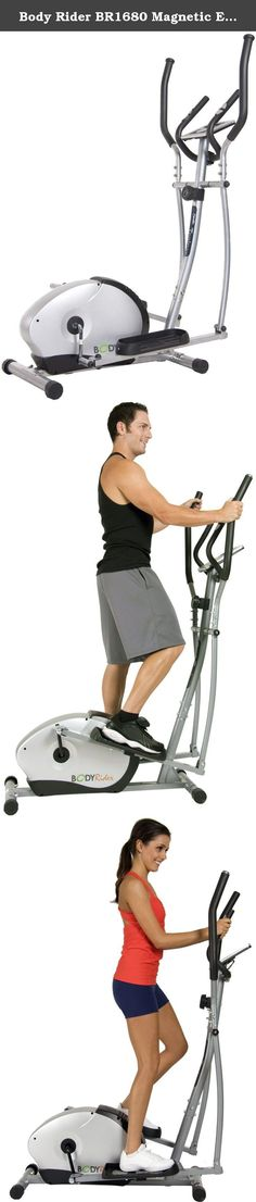 Body Rider BR1680 Magnetic Elliptical Trainer. With its patented design, the Body Rider BR1680 Magnetic Elliptical Trainer allows you to exercise with a smooth, no-impact motion. This elliptical trainer offers the benefits of a cardio workout without undue stress on your joints. The unit provides whisper-quiet operation-great for home exercise.Vary your workouts by easily adjusting the magnetic resistance with the turn of a dial, and even simultaneously target your upper and lower body…