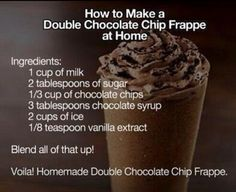 Double chocolate chip frappe!