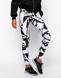 Image 4 of Nike Big Print Leggings