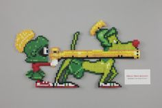 Perler and Artkal fuse bead Looney Toons Marvin the Martian + K9 by Manic Made Geekery