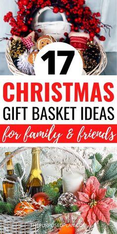 Diy Christmas Baskets, Christmas Gift Baskets, Christmas Gift Box, Homemade Christmas Gifts, Christmas Ideas, Christmas Decorations, Family Christmas, Holiday Ideas, Christmas Cards