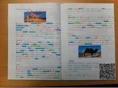 Picture of a students color coded notes by Pearson K-12 Technology, via Flickr