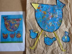 poule façon Eva C Crawford chez Lise: tribune libre Spring Art, Spring Crafts, Art Projects, Projects To Try, Rooster Art, Easter Season, Arts And Crafts, Diy Crafts, Arts Ed