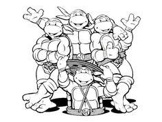 teenage mutant turtles coloring   ... Turtles, : Teenage Mutant Ninja Turtles and Their Sewer Lair Coloring