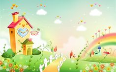 Cartoon Fantasy Scenery Wallpapers #19