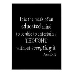 #Spring #AdoreWe #Zazzle - #Zazzle Vintage Aristotle Educated Mind Thought Quote Poster - AdoreWe.com