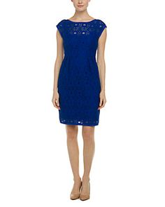 Nanette Lepore Around the World Cobalt Lace Dress