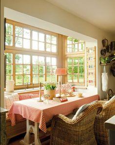 domek na wsi, wnętrza, dom, wystrój wnętrz, styl wiejski, styl rustykalny, kuchnia, jadalnia