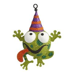 Glitter Frog Ornament - I adore this ornament from Frog Ornaments, Christmas Ornaments, Halloween Crafts, Halloween Decorations, Happy Everything, Frogs, Favorite Holiday, Holiday Decor, Holiday Ideas