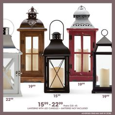 Set the mood with these beautiful lanterns. #gordmans #somethingunexpected