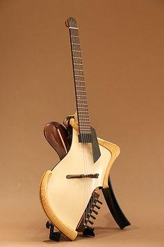 Michihiro Matsuda Guitars Headless arched top acoustic electric guitar (2015)