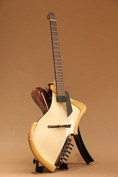 Michihiro Matsuda Guitars Headless arched top acoustic electric guitar (2015)