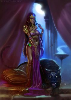 African Princess and her Pet by WaltBarna on DeviantArt