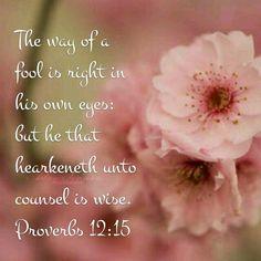 Proverbs 12:15 KJV