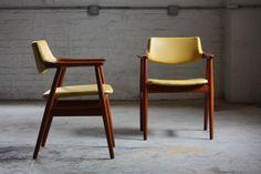 Grete Jalk Danish Mid Century Modern Teak Armchairs for Glostrup