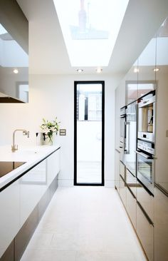 ultra-sleek, modern kitchen