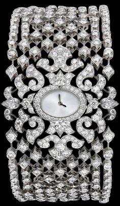 Cartier Diamonds Bracelet watch  // - Maria Elena Garcia - ► www.pinterest.com... ◀︎
