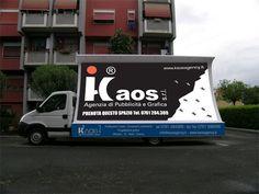 KAOS S.r.l: Vela pubblicitaria - disponibile in postazione fissa e movimento con spot audio