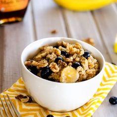 Quinoa With Blueberries, Walnuts & Bananas