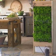 Vertical Gardens This living wall planter, large vertical garden is something I need to get in my house ASAP! Perfect for using fresh herbs and spices in your food! Vertical Herb Gardens, Outdoor Gardens, Vertical Planter, Indoor Outdoor, Eco Deco, Culture D'herbes, Vertikal Garden, Living Wall Planter, Diy Wall Planter