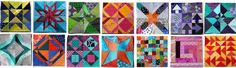 Free Paper Piecing Patterns | WOMBAT QUILTS - a whole list of linked FREE paper pieced quilt blocks.