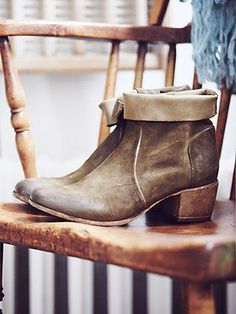 Secret Forest Ankle Boot | Italian crafted distressed leather ankle boots with suede details.  Exposed zipper for easy on off.   *By Free People