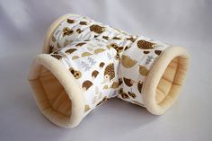 cosy cuddle t-tunnel / roll for guinea pigs hedgehog by TheCosyHut Hedgehog Accessories, Guinea Pig Accessories, Pet Accessories, Hedgehog Cage, Hedgehog Pet, Pet Guinea Pigs, Guinea Pig Care, Hamsters, Guinie Pig