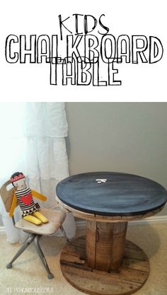 Kids Chalkboard Table - Life PreKARIous