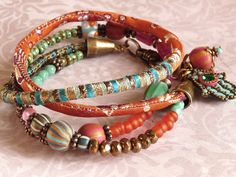 Beautiful variety of beads, colors and textures. (Hmm...who could make this for me??)