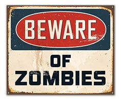 JP London POS2456 uStrip Peel and Stick Removable Wall Decal Sticker Mural Beware Zombies Keep Out Sign Walking Dead 24Inch by 1975Inch * You can find more details by visiting the image link.Note:It is affiliate link to Amazon.