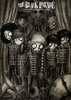 The Black Parade by *DemiseMAN on deviantART....this looks exactly how my sister would draw mcr