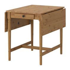 INGATORP ドロップリーフテーブル IKEA 2~4人用。ドロップリーフ2枚付き。必要に応じてテーブルのサイズを変えられます 無垢材を使用しているので、使い込むほどに風合いが増します お手入れの簡単なクリアラッカー仕上げ。さっと拭くだけできれいになります