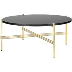Gubi - Collection TS Table - Tables rondes avec plateau en verre Coffee Table Bench, Brass Coffee Table, Coffee Table Design, Round Coffee Table, Filigranes Design, Design Studio, Design Shop, Table Furniture, Home Furniture