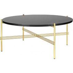 Gubi - Collection TS Table - Tables rondes avec plateau en verre