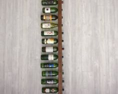 Tuscan Wine Rack 16 Bottle Ladders Set of 2 by VetrinaDelVino Conservation, Drywall Installation, Rough Wood, Aged Copper, Wood Wine Racks, Copper Accents, Flat Shapes, Bottle Holders, Craft Stick Crafts