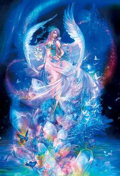 1000ピース ジグソーパズル 深泉万葉 水晶の女神 (49x72cm)