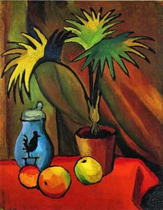 Still Life with Palms, August Macke - a needlepoint kit from The Silk Mill complete with all the silks.