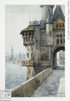 """Laure Antoinette Brouardel (1852-1936). """"Exposition universelle de 1900 : le vieux Paris, 1900"""". Paris, musée Carnavalet."""