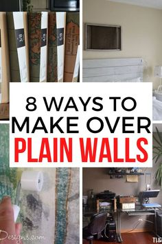 Tired of your boring walls? create a beautiful accent wall with these 8 easy ideas. These simple and affordable wall ideas will make a great impression and improve your home decor in your bedroom, living room, guest room or entryway. #diy #wall #bedroomwall Diy Wall Art, Diy Wall Decor, Diy Home Decor, Diy Home Furniture, Furniture Makeover, Wall Ideas, Decor Ideas, Diy Ideas, Shabby Chic Painting