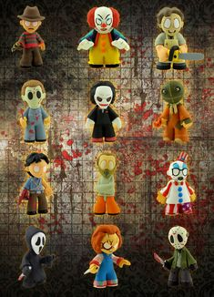 The Horror genre gets a stylized makeover! This Horror Collection Mystery Minis Vinyl Mini-Figure features some of the most iconic characters from the Horror Icons, Horror Art, Horror Movies, Funko Figures, Vinyl Figures, Horror Merch, Sam Trick R Treat, Funko Mystery Minis, Halloween Ornaments