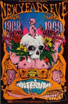 New Year's Eve 1968, Winterland; The Dead, Quicksilver, Oh it's a Beautiful Day and Santana. Local bands, no big deal.