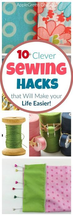 clever sewing hacks you absolutely need to know! They will make your sewing and life easier. Some of them are so amazingly simple you just won't believe you haven't thought of yourself!
