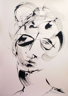 Brett Whiteley's Apparition Life Drawing, Painting & Drawing, Art Informel, Abstract Face Art, Collage Art Mixed Media, Australian Artists, Drawing People, Figurative Art, Art Images
