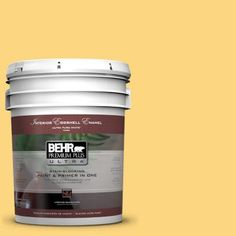 BEHR Premium Plus Ultra 5-gal. #350B-6 Wildflower Honey Eggshell Enamel Interior Paint-275405 - The Home Depot