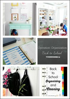 Operation: Organization Back to School 2016--organization tips from bloggers to make this school year the best ever!