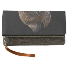 American Brown Grizzly Bear Animal Nature Wildlife Clutch -nature diy customize sprecial design