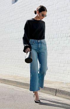 Sara donaldson - pantacourt jeans - pantacout - verão - street style мода в Fashion Mode, Look Fashion, Trendy Fashion, Autumn Fashion, Trendy Style, Chubby Fashion, Fashion Stores, Classic Fashion, Fashion 2018
